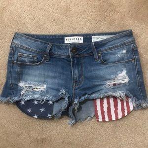 American flag inspired Denim shorts